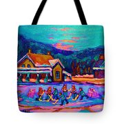Pond Hockey Two Tote Bag