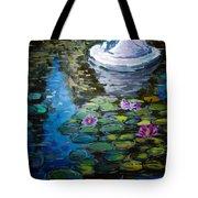 Pond In Monet Garden Tote Bag