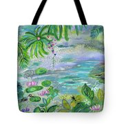 Pond In The Morning Tote Bag