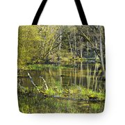 Pond In The Undergrowth. Tote Bag