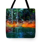 Pond In The Woods Tote Bag