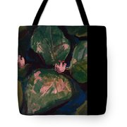 Pond Leaves Tote Bag