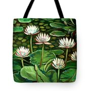 Pond Of Petals Tote Bag