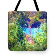 Pond Overlook Tote Bag