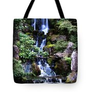 Pond Waterfall Tote Bag