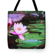 Pond With Water Lilly Flowers Tote Bag
