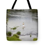 Pondering Fisherman Tote Bag
