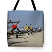 Ponies All In A Row Tote Bag