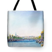 Pont Alexandre IIi Or Alexander The Third Bridge Over The River Seine In Paris France Tote Bag
