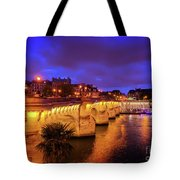 Pont Neuf At Night Tote Bag