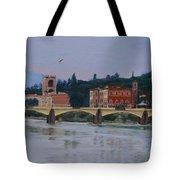 Ponte Vecchio Landscape Tote Bag