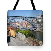 Ponte Luiz I Between Porto And Gaia In Portugal Tote Bag