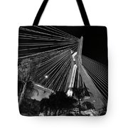 Ponte Octavio Frias De Oliveira At Night - Sao Paulo, Brazil Tote Bag