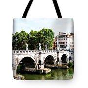 Ponte Saint' Angelo, Rome Tote Bag