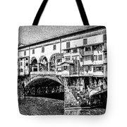 Ponte Vecchio Florence Sketch Tote Bag