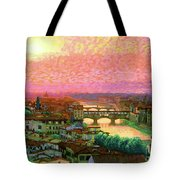Ponte Vecchio Sunset Florence Tote Bag