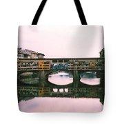 Ponte Vecchio Sunset Photograph Tote Bag