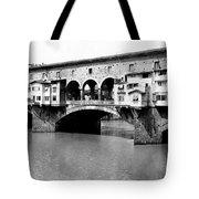 Ponte Vicchio Bridge In Florence Italy - C 1905 Tote Bag