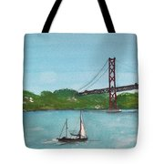 Ponte Vinte E Cinco De Abril Tote Bag