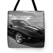Pontiac Trans Am Ram Air In Black And White Tote Bag