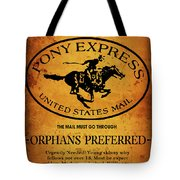 Pony Express Wanted Poster Tote Bag