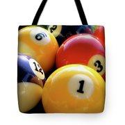 Pool Balls Tote Bag