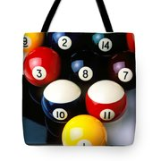 Pool Balls On Tiles Tote Bag by Garry Gay