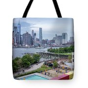 Pool With A View, Brooklyn, New York #130706 Tote Bag