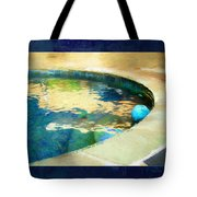 Pool With Blue Ball Tote Bag