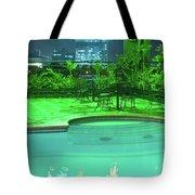 Pool With City Lights Tote Bag