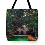 Pool With Tree Tote Bag