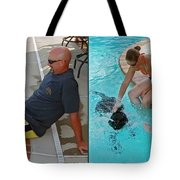 Poolside - Gently Cross Your Eyes And Focus On The Middle Image Tote Bag