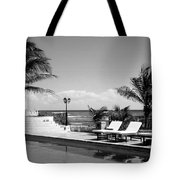 Poolside B-w Tote Bag