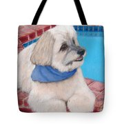Poolside Puppy Tote Bag
