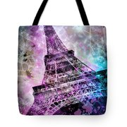 Pop Art Eiffel Tower Tote Bag