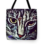 Face Of The Feline Tote Bag