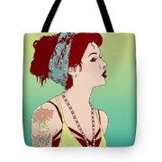 Pop Art Lady Tote Bag