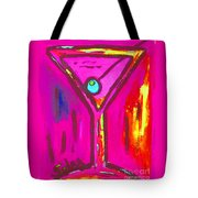 Pop Art Martini  Pink Neon Series 1989 Tote Bag