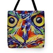 Pop Art Owl Face-1 Tote Bag