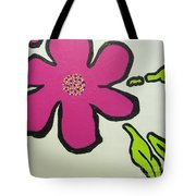 Pop Art Pansy Tote Bag