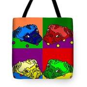 Pop Art Pug Tote Bag