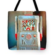 Pop Art Robot R-1 Tote Bag