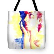 Pop Art Woman Portrait Tote Bag