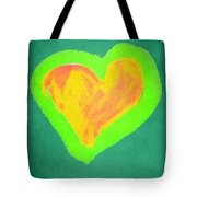 Pop Heart - Green Tote Bag
