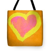 Pop Heart - Orange Tote Bag