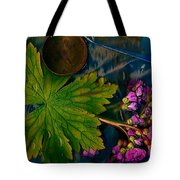 Popart With Fantasy Flowers Tote Bag