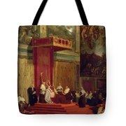 Pope Pius Vii Luigi Barnaba Chiaramonti Attending Chapel 1820 Tote Bag