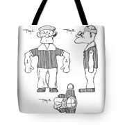 Popeye Doll Patent 1932 Tote Bag