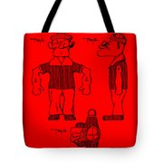 Popeye Doll Patent 1932 In Red Tote Bag