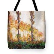 Poplars, Autumn Tote Bag